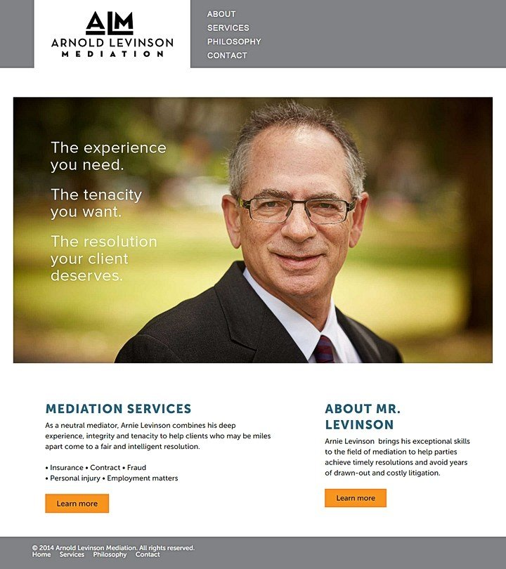Arnold Levinson Mediation website
