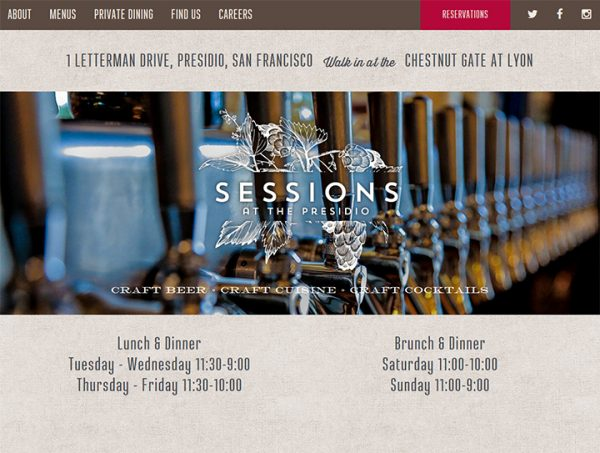 Sessions at the Presidio website